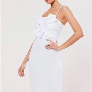 Missguided Bodycon Bow Midi Dress